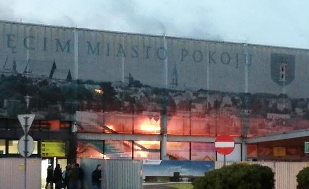 Pożar dworca kolejowego w Oświęcimiu