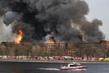 Pożar fabryki w Petersburgu zlokalizowany. Nadal trwa gaszenie