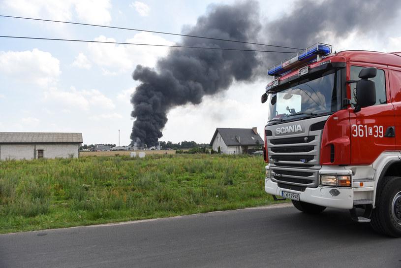 Pożar firmy Eko-chem /Polska Press /East News