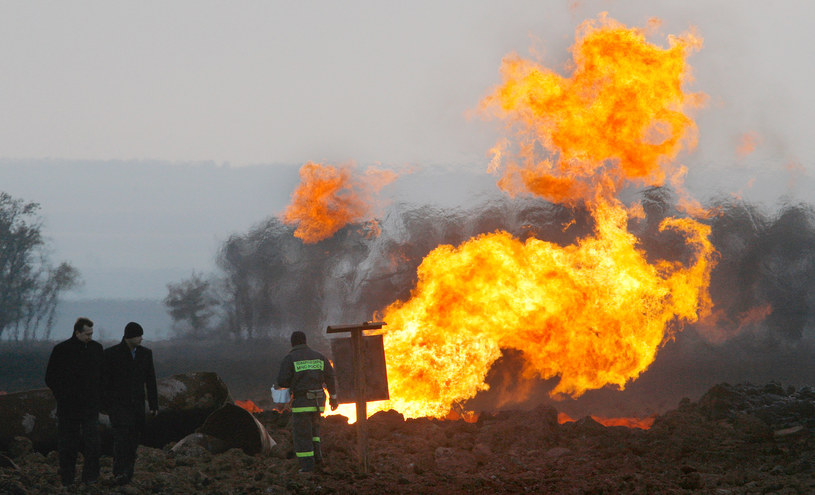 Pożar gazociągu (zdjęcie ilustracyjne) /DANIL SEMYONOV /AFP