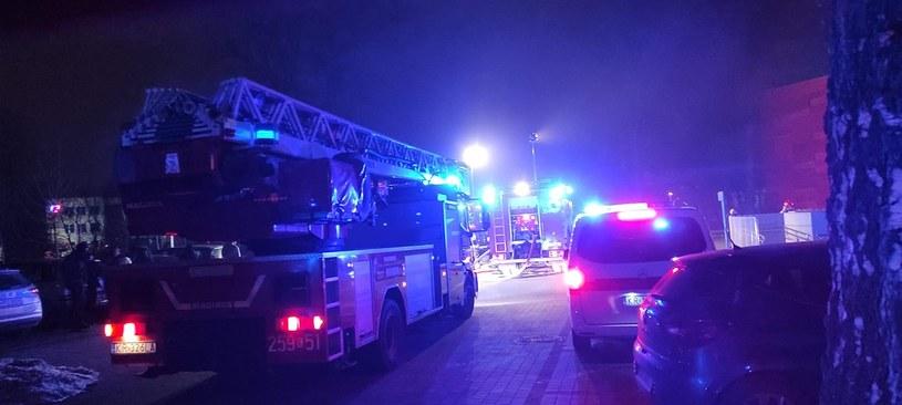Pożar hal należących do archiwum Urzędu Miasta Krakowa /Jednostka Ratowniczo-Gaśnicza nr 4 w Krakowie /facebook.com