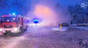 Pożar hali magazynowej w Rembartowie. Jedna ofiara śmiertelna