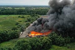 Pożar hali w Konstancinie