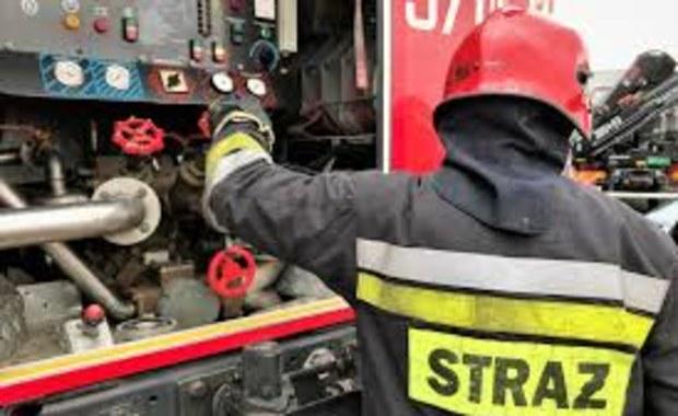 Pożar hali w miejscowości Klwatka Królewska