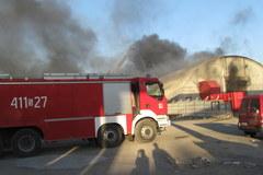 Pożar hali w Siemianowicach Śląskich