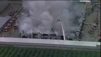 Pożar hali w Wólce Kosowskiej
