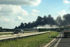 Pożar hali w Zakrzewie