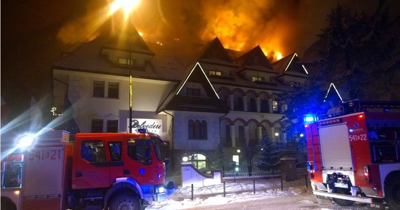 Pożar hotelu Belvedere /Mateusz/Gorąca Linia RMF FM /RMF