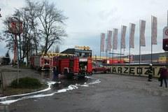 Pożar hurtowni elektronarzędzi w Opolu