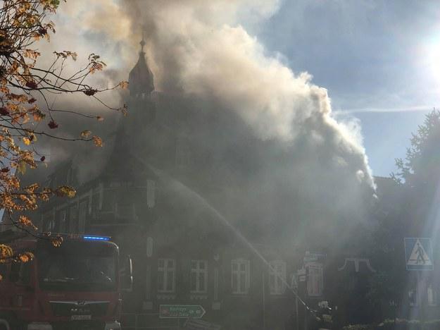 Pożar kamienicy w Mieszkowicach /www.chojna24.pl /
