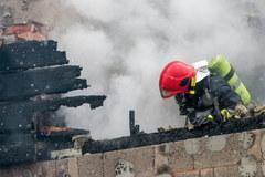 Pożar karczmy w Sadach Dolnych