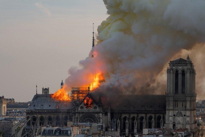 Pożar katedry Notre Dame, 15.04.19 /Fabien Barrau / AFP /AFP