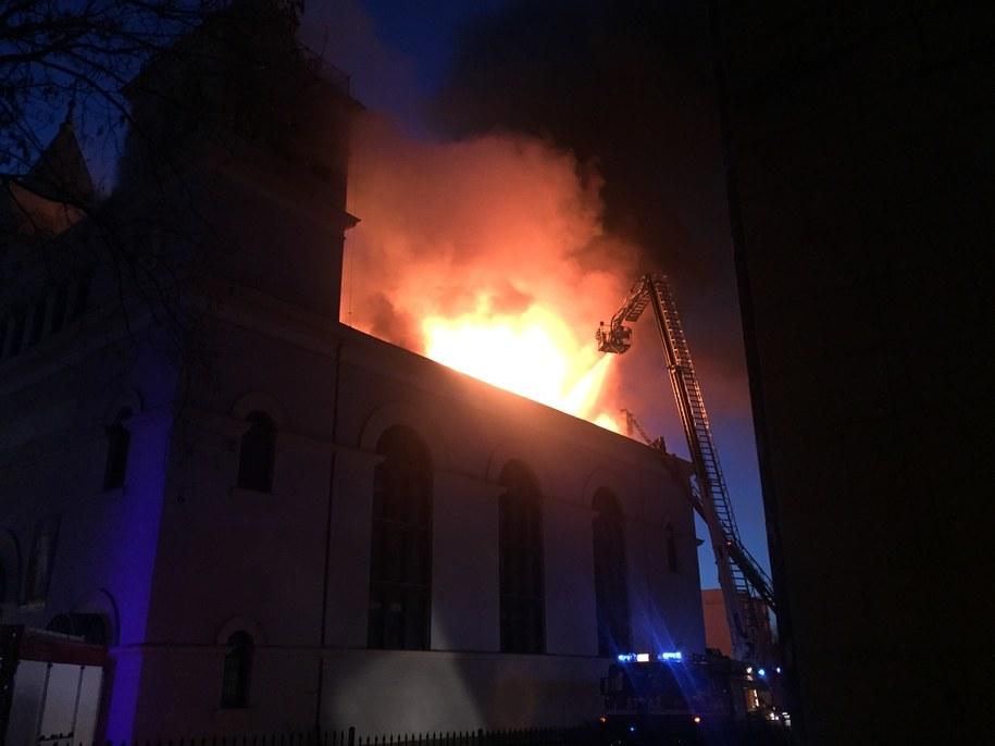 Pożar kościoła w Braniewie /Gorąca Lina RMF FM /Gorąca Linia RMF FM