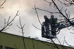 Pożar lakierni w Świebodzicach na Dolnym Śląsku