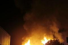 Pożar Lidla w Kielcach. Zawalił się dach