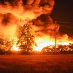 Pożar magazynów śmieci w Dąbrowie Niemodlińskiej
