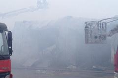 Pożar magazynu w Wólce Kosowskiej