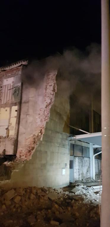 Pożar miał wybuchnąć w części dworca, która jest rozbierana /foto. Straż Pożarna /