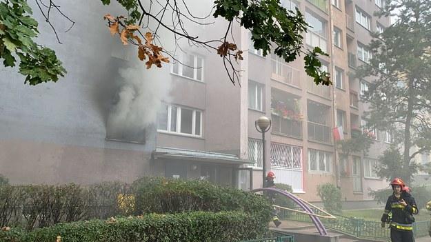 Pożar mieszkania na ulicy Fabrycznej /Mariusz PIekarski /RMF FM