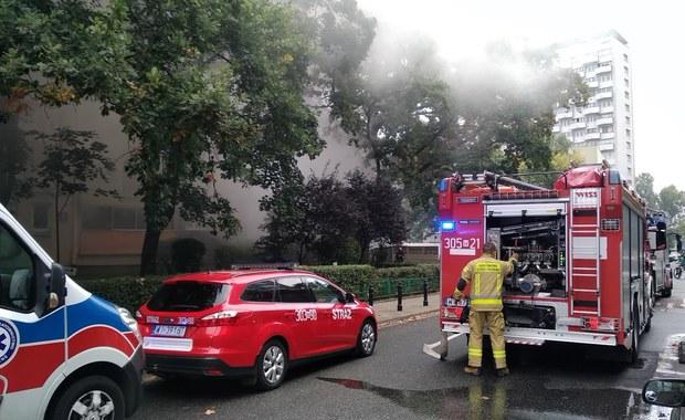 Pożar mieszkania w centrum Warszawy