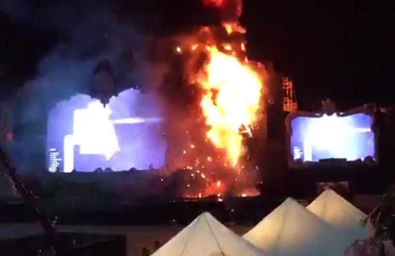 Pożar na koncercie w Barcelonie /Twitter