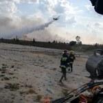 Pożar na poligonie. Bardzo trudna akcja strażaków