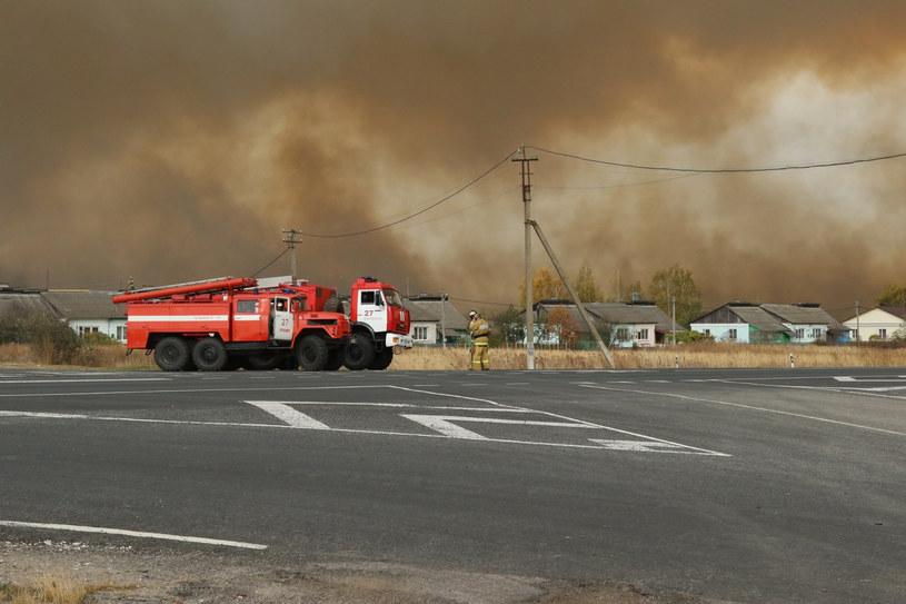 Pożar na rosyjskim poligonie /AFP PHOTO / Russian Emergencies Ministry /East News