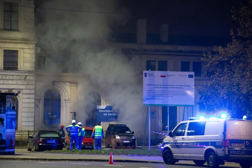 Pożar na strzelnicy w podziemiach Dworca Świebodzkiego /Magdalena Pasiewicz /East News