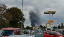 Pożar na terenie fabryki kotłów w Rumii