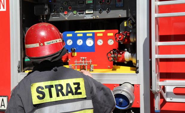 Pożar na terenie zakładów chemicznych w Oświęcimiu