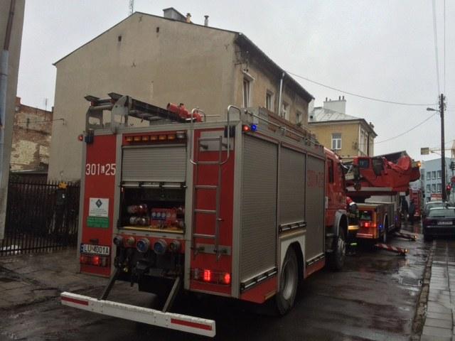 Pożar na ul. Chłodnej w Lublinie /Krzysztof Kot /RMF FM