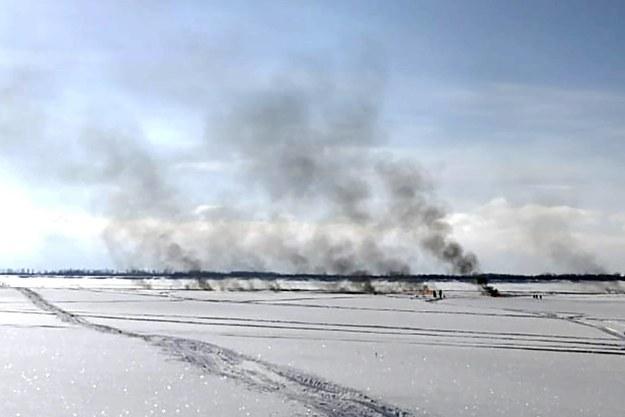 Pożar objął powierzchnię 1200 metrów kwadratowych /Andrei Vil /PAP/ITAR-TASS