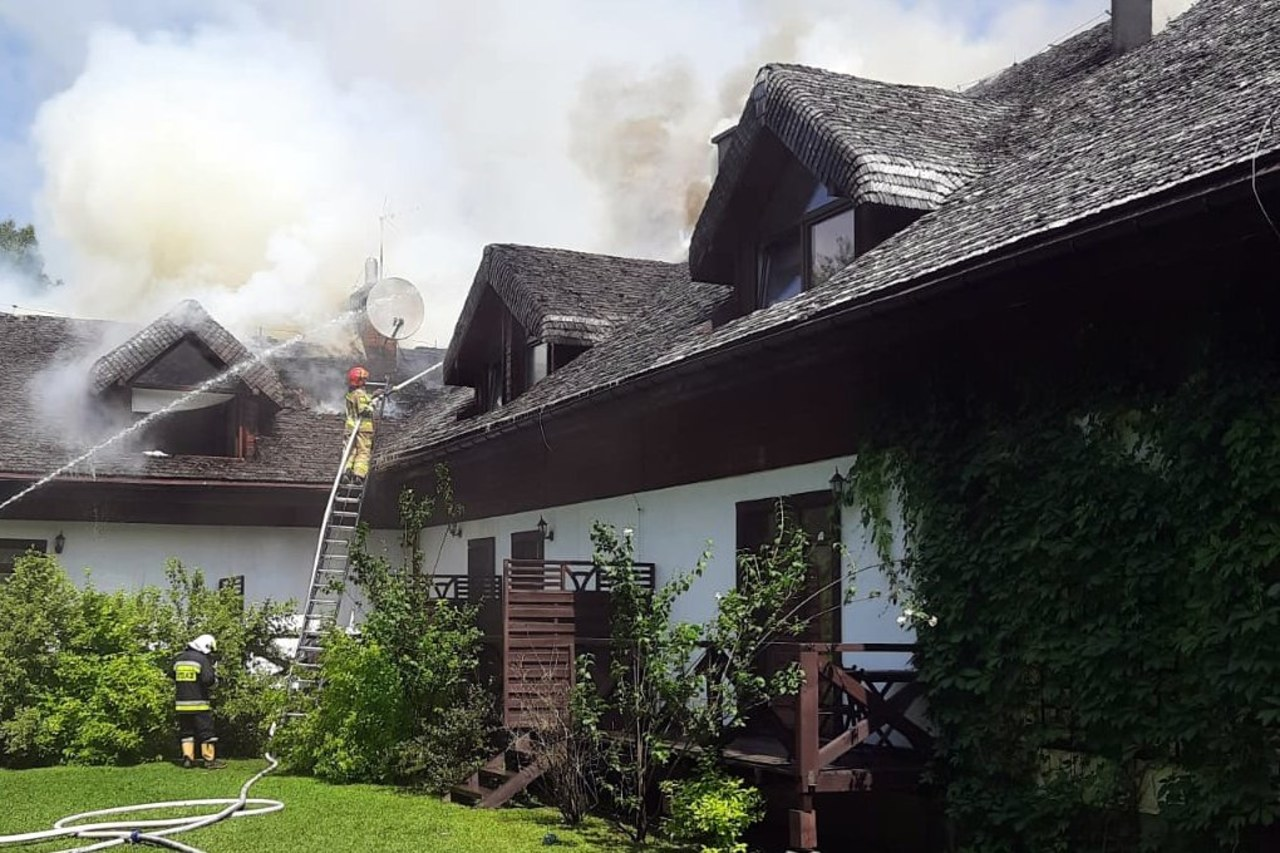 Pożar pensjonatu w Bieszczadach [ZDJĘCIA]