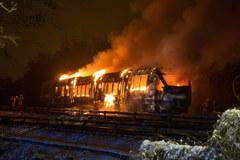 Pożar pociągu tuż przy granicy z Polską