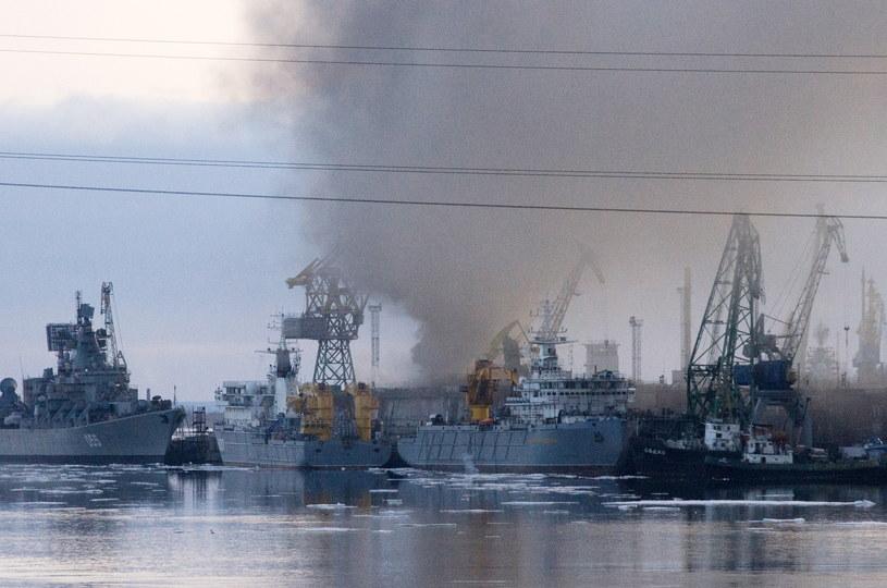 Pożar podwodnego okrętu atomowego /Oleg Ushakov/TASS /Agencja FORUM