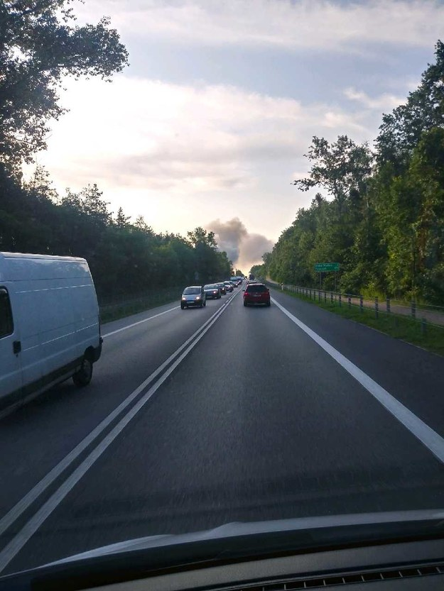 Pożar przy drodze krajowej numer dwa /Gorąca Linia RMF FM