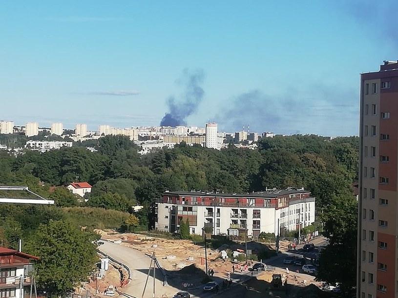 Pożar przy ul. Blokowej w Nowej Hucie /@krakow_pl /Twitter