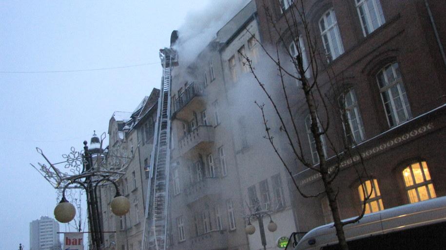 Pożar przy ul. Stawowej w Katowicach /Anna Kropaczek /RMF FM