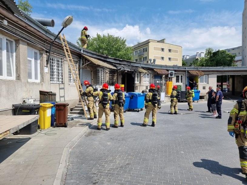 Pożar przy ul. Wrzeciono w Warszawie /INTERIA.PL