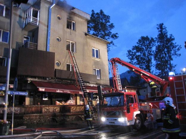 Pożar restauracji w centrum Zakopanego /RMF FM