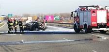 0007P1P53FWAOLWS-C307 Pożar samochodu na autostradzie A1