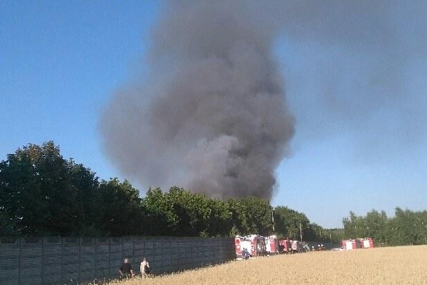 Pożar składowiska odpadów w Mostkach /Gorąca Linia RMF FM