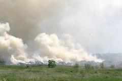 Pożar składowiska odpadów w Ostrowie Wielkopolskim