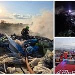 Pożar składowiska odpadów w Pyszącej. Strażacy wciąż dogaszają ogień