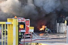 Pożar składowiska odpadów w Szczecinie