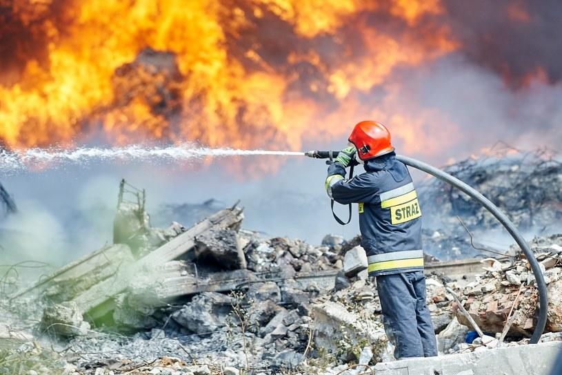 Pożar składowiska odpadów w Zgierzu /Lukasz Szelag /Reporter