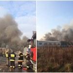 Pożar składowiska opon w Żorach. To najpewniej podpalenie