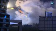 Pożar składowiska zezłomowanych samochodów w Tarnowskich Górach