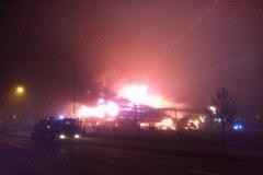 Pożar supermarketu w Wągrowcu