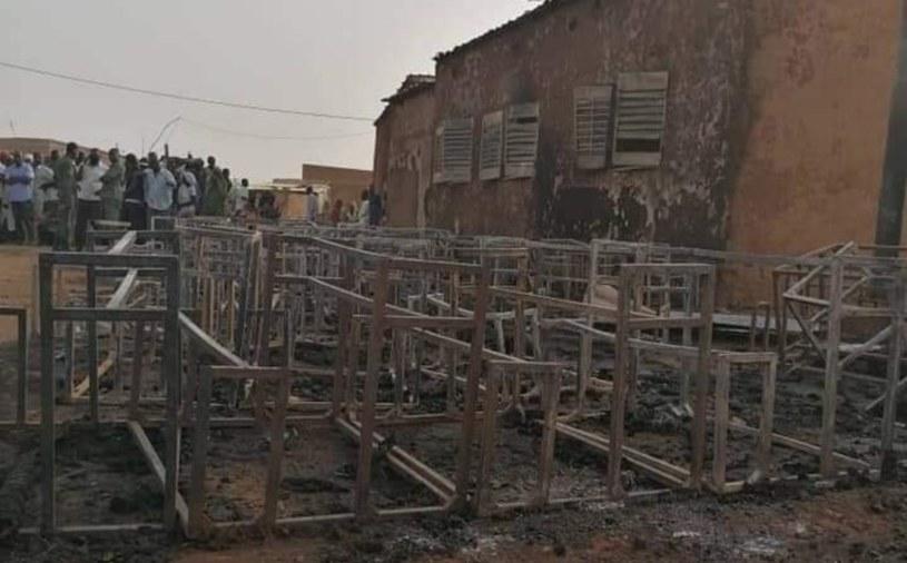 Pożar szkoły w Nigrze /Illia Djadi /Twitter